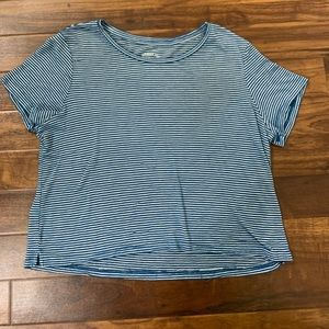 Aeropostale Blue and White Striped Top